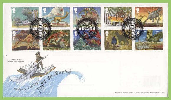 G.B. 2002 Just So Stories set on u/a Royal Mail First Day Cover, Westwood Stafford