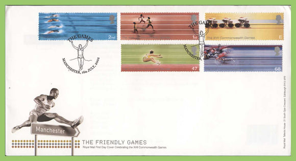 G.B. 2002 Commonwealth Games set Royal Mail First Day Cover, Manchester