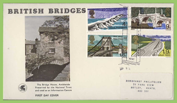 G.B. 1968 Bridges set on Wessex First Day Cover, Bridge Kent