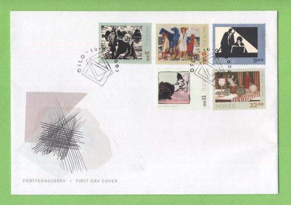 Norway 2003 Graphic Art set on First Day Cover