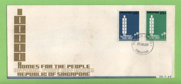 Singapore 1969 Homes for the People Project First Day Cover