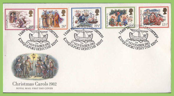 G.B. 1982 Christmas Carols set on u/a Royal Mail First Day Cover, Hythe Kent
