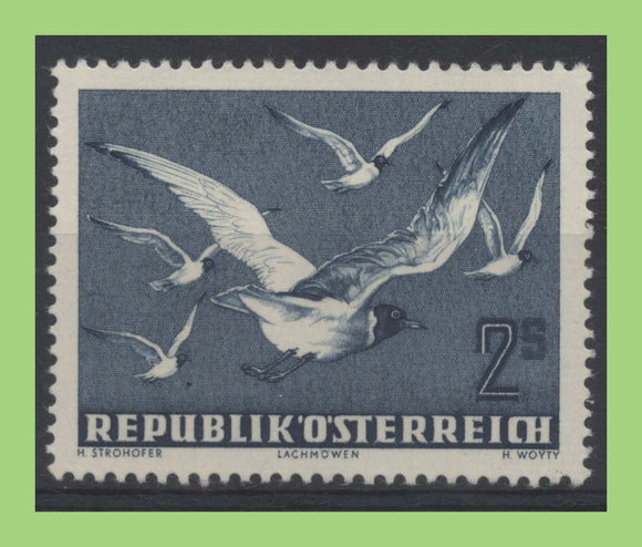 Austria 1959 2s - blue (Black-headed gulls) stamp mint hinged