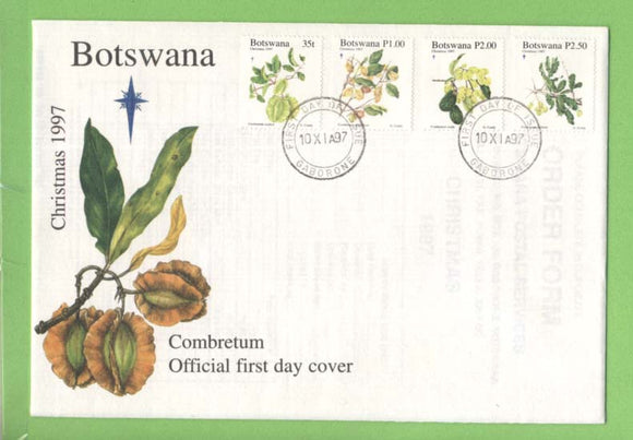 Botswana 1997 Christmas, Plants set on First Day Cover