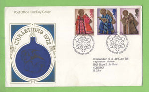 G.B. 1972 Christmas set on Post Office First Day Cover, Bureau