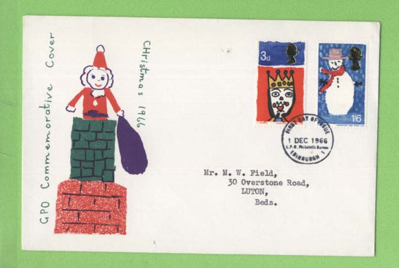 G.B. 1966 Christmas set on GPO First Day Cover, Bethlehem