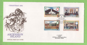Ascension 1991 Christmas. Ascension Churches set First Day Cover