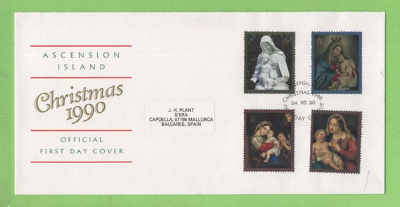 Ascension 1990 Christmas set First Day Cover