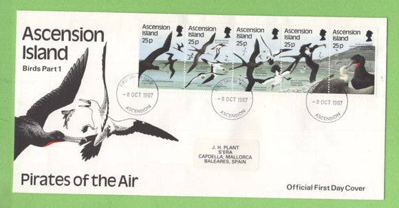 Ascension 1987 Sea Birds (1st series) set First Day Cover
