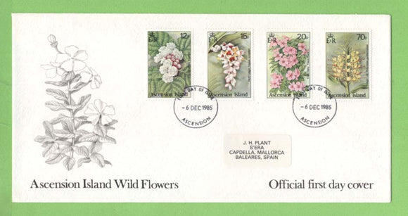 Ascension 1985 Wild Flowers set First Day Cover