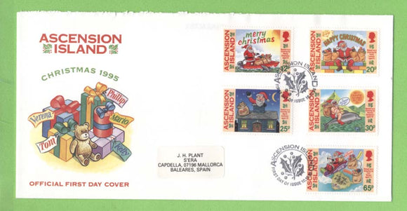 Ascension 1995 Christmas set on First Day Cover