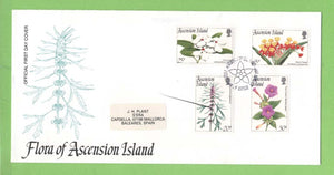 Ascension 1995 Flowers set on First Day Cover