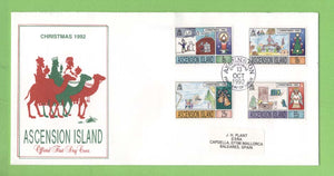 Ascension 1992 Christmas. Children's Paintings set on First Day Cover