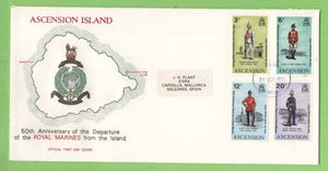 Ascension 1973 50th Anniv of Departure of Royal Marines on First Day Cover