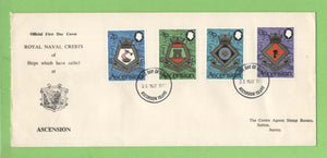Ascension 1973 Royal Naval Crests (5th series) set on First Day Cover