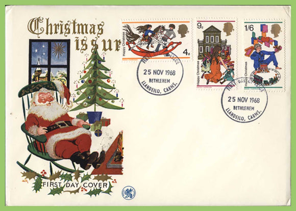 G.B. 1968 Christmas set on u/a Wessex First Day Cover, Bethlehem