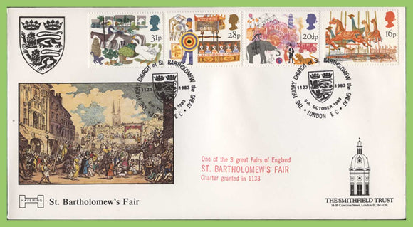 G.B. 1983 British Fairs official Havering cachet First Day Cover, London EC, St Bartholomews Fair