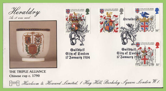 G.B. 1984 Heraldry official Havering First Day Cover, Guildhall, City of London