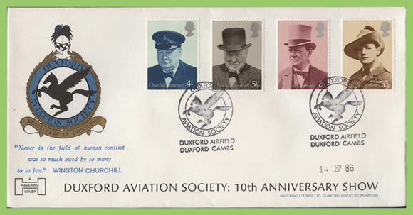 G.B. 1986 Duxford Aviation Society commemorative cover, Duxford Cambs.