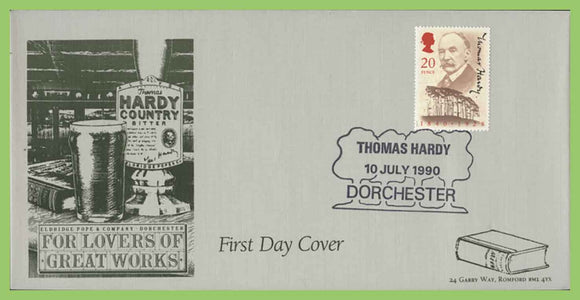 G.B. 1990 Thomas Hardy official Havering First Day Cover,  Dorchester
