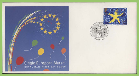G.B. 1992 Single European Market Royal Mail u/a First Day Cover,  Westminster