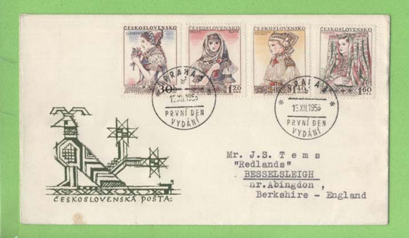 Czechoslovakia 1958 Costumes set on First Day Cover