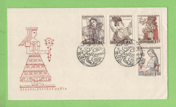 Czechoslovakia 1957 Costumes set (3rd series) on First Day Cover
