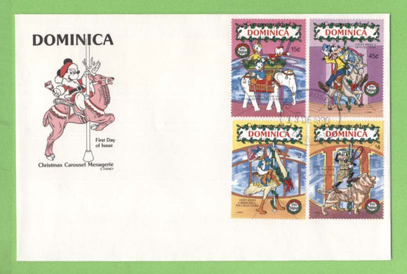 Dominica 1990 Disney Christmas Carousel First Day Cover