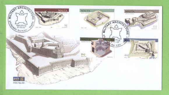 Malta 2003 Maltese Military Architecture set First Day Cover