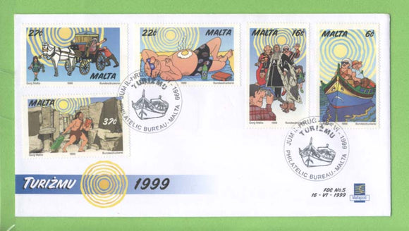 Malta 1999 Tourism set on First Day Cover, Bureau