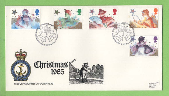 G.B. 1985 Christmas set on RNLI official First Day Cover, Bethlehem