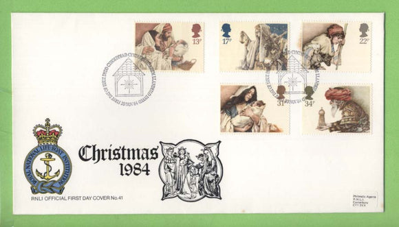 G.B. 1984 Christmas set on RNLI official First Day Cover, Bethlehem