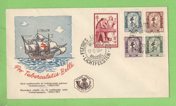 Belgium 1956 Anti - TB issue First Day Cover