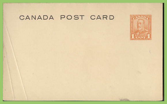 Canada - KGV 1c P.S. Card with attached ½d Business Reply Card unused