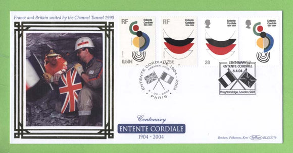 G.B. 2004 Entente Cordiale Joint Issue Benham First Day Cover, Paris/LondonSW1