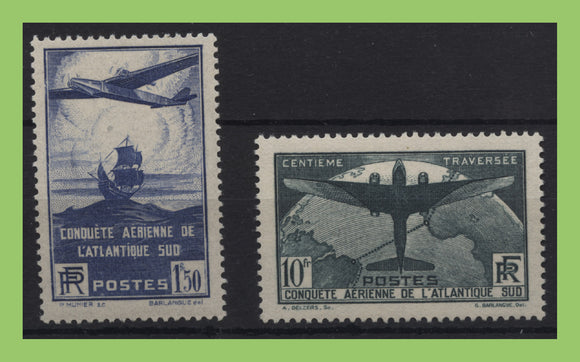 France 1936 100th Flight between France and S. America set UM, MNH