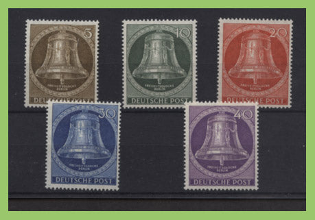 Germany - Berlin1951 Freedom Bells set (Center Clapper) lightly hinged, sg B101-B105
