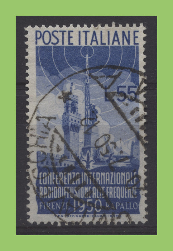 Italy 1950 55L International Radio Conference fine used, sg 750, Cat £190