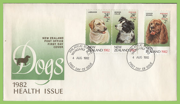 New Zealand 1982 Dogs Health Issue on First Day Cover