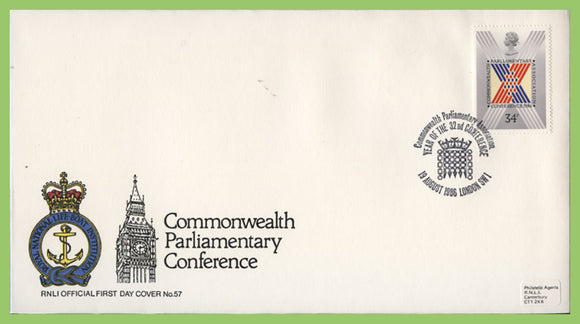 G.B. 1986 Parliamentary Conference on official RNLI First Day Cover, London SW1