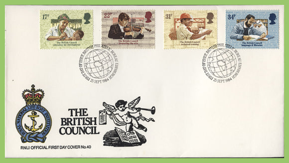 G.B. 1984 The British Council on official RNLI First Day Cover, Bureau