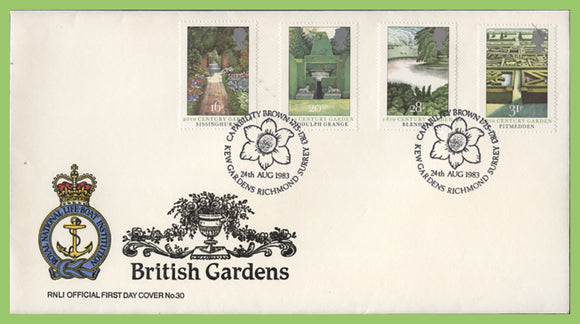 G.B. 1983 British Gardens official RNLI First Day Cover, Kew Gardens