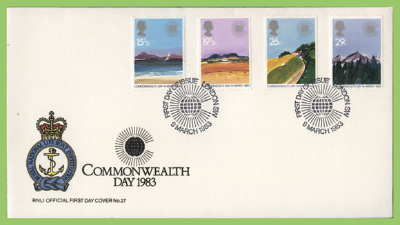 G.B. 1982 Commonwealth Day set on official RNLI First Day Cover, London SW