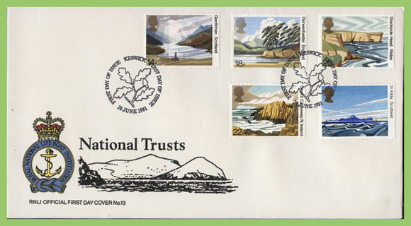 G.B. 1981 National Trusts set on official RNLI First Day Cover, Keswick