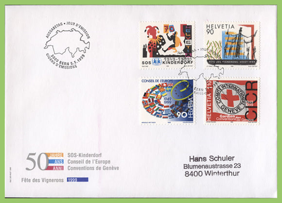 Switzerland 1999 Publicity set on First Day Cover