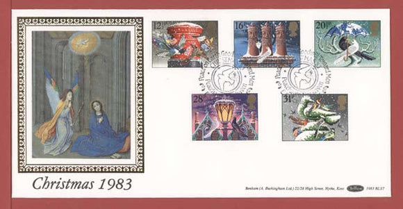 G.B. 1983 Christmas set on Benham First Day Cover, Peacehaven