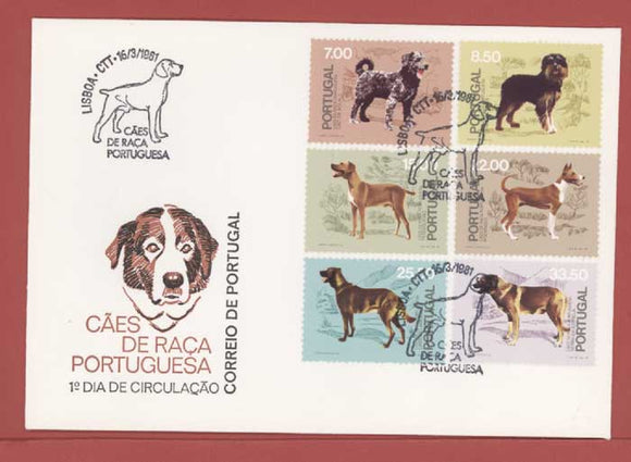 Portugal 1981 Dogs set on First Day Cover