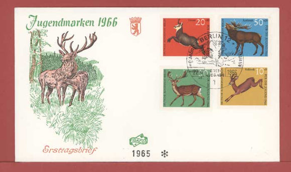Germany 1966 Child Welfare Animals set on First Day Cover