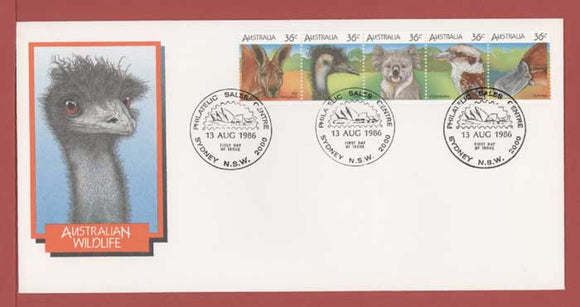 Australia 1986 Australian Wildlife (1st series) set on First Day Cover