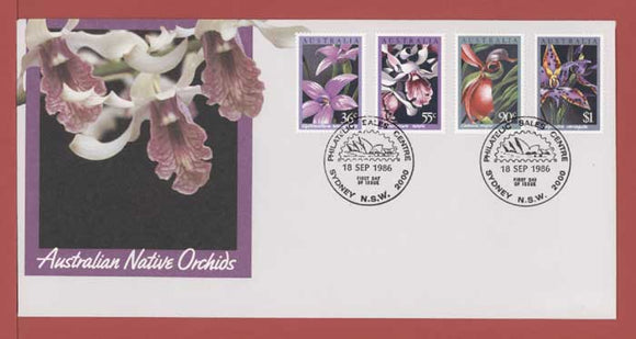 Australia 1986 Native Orchids set on First Day Cover